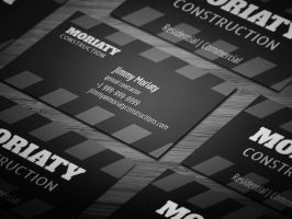 Sleek Contractor Business Card by sjarahul
