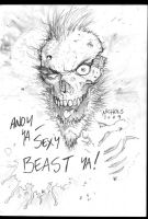 Old man Zombie sketch by FlowComa