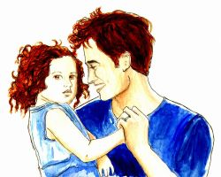 Edward and Nessie by LittleSeaSparrow