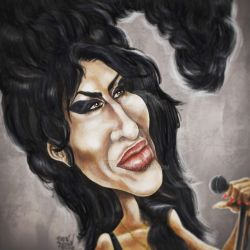AmyWinehouse-caricatureresolution2018-day31 by bre-bro