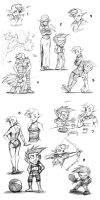 Newman and Gwen Sketches #1 by Josh-Ulrich