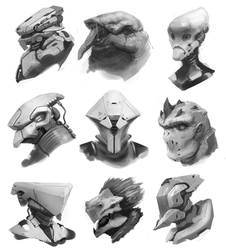 Bust concepts by BrandonSwanArt