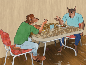 In A Diner by lionsilverwolf