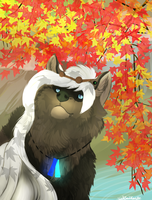 .:P. Commission: Autumn leaves~ by WolfSoulKeeper