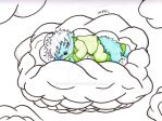Inktober 2017 - Cloud Naptime by mdchan