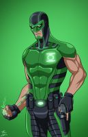 Green Lantern [Simon Baz] (Earth-27) commission by phil-cho