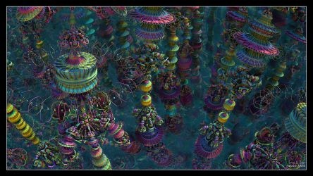 Psychedelic Towers by EricTonArts