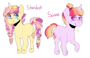 MLP:NG: Stardust and Sonne by tinttiyo