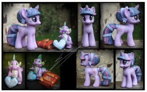 Trade: Crystal Twilight and Spike Custom by Nazegoreng