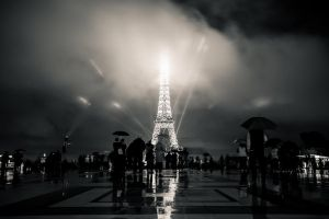 Eiffel tower at night by cmozzocchi