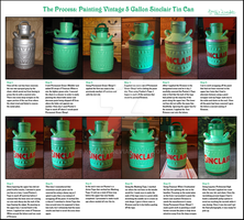 The Process: Painting Vintage Sinclair Tin Can