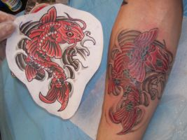 My Koi Tattoo by norm-butler
