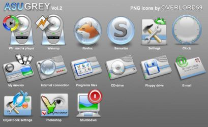 Azugrey png icons vol.2 by overlord59