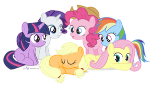 The Filly Six in 'Hi, I'm Applejack.' by dm29