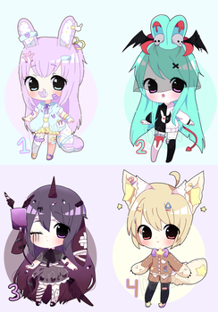Chibi Adoptable Batch Auction [CLOSED TY} by Trasochist