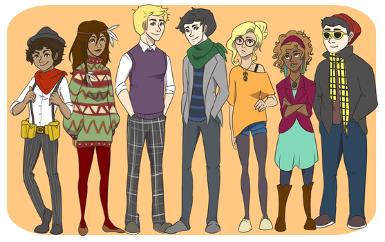 The Hipsters of Olympus by cookiekhaleesi