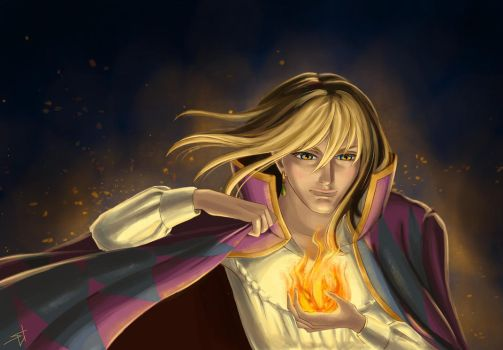Howl and Calcifer by ShiNasty
