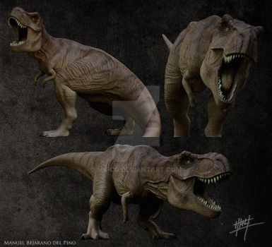 Tyrannosaurus Rex render tests by MB-CG