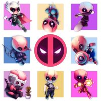 Chibi Deadpool T-Shirt Design by Faithful-Imagination