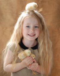 Little girl with chicken_1 by anastasiya-landa