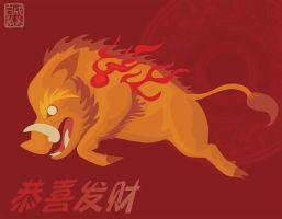 Year of the Boar by Naryu