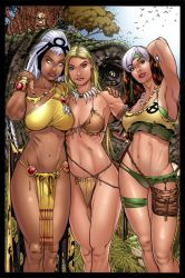 Storm  Shanna  And Rogue   Savage Land   Color by V3dd3rMan