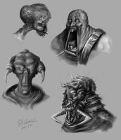 Horror sketches.. by thadeemon
