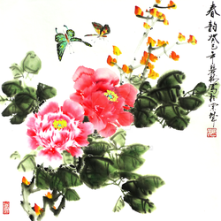 Chinese Traditional Flowers Painting by TaoBishu