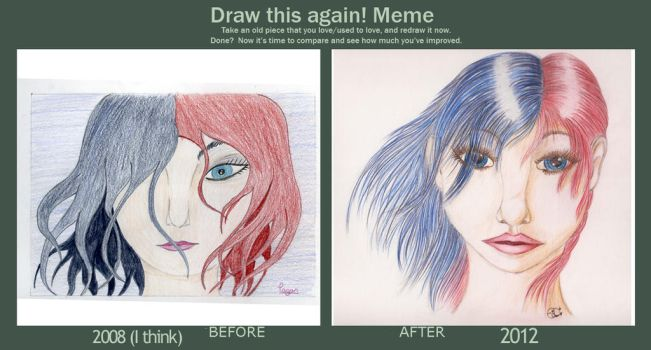 Draw This Again: Red and Black by EcstaticDismay