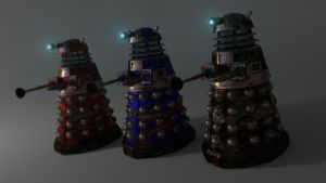 More Daleks by Pharaoh-Hamenthotep
