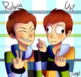 Rubius and Ust by mariogamesandenemies