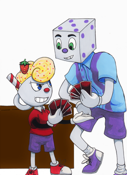 Cuphead art Trade OC's by FullmetalDevil