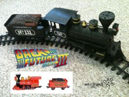 BTTF3 Train - Before and After by RockerDragonfly