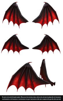 RESTRICTED - Demon Wings PNG by frozenstocks