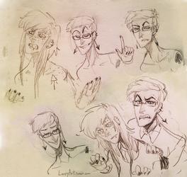 Sammy and Rudy sketches by Simply-Psycho