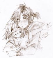 me and my younger self by AsuHan