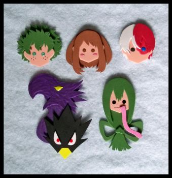 Pins - My Hero Academia by GwydionAE
