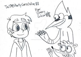 Marco Diaz meets Mordecai and Rigby by CelmationPrince
