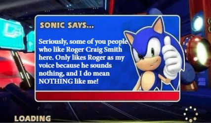 Sonic Says: Sonic Voice of Roger Craig Smith's by sonic171000