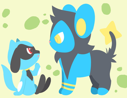 Request - Luxio and Riolu