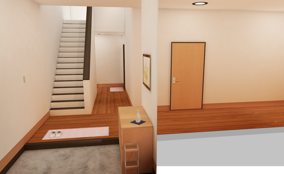 MMD HIGH QAULITY room with stairs by amiamy111