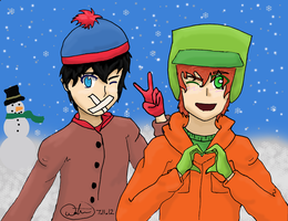 Kyle and Stan by EdwardAlphonseElric