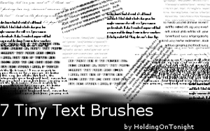 Tiny Text Brushes by HoldingOnTonight