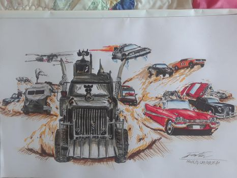 Inktober Movie and TV SHOW car mash up by captaincrunch1950