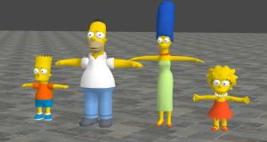 The Simpsons Hit and Run Model pack For XNALara by user619