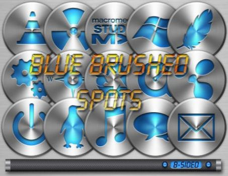 Blue Brushed Spots by BSided