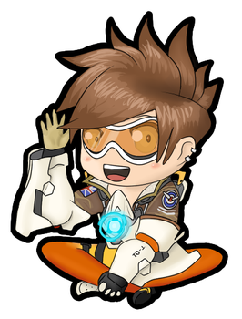 Tracer Chibi by I-see-no-Bottle