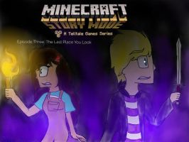 Minecraft Story Mode: The Last Place You Look by MoonlightWolfStar