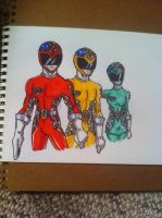 Power Rangers Storm main team by buddyfrank
