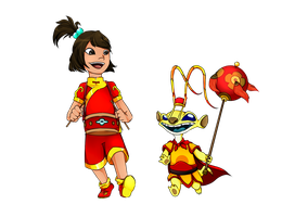 Sparky and Ai at the chinese festival by Aleatorry